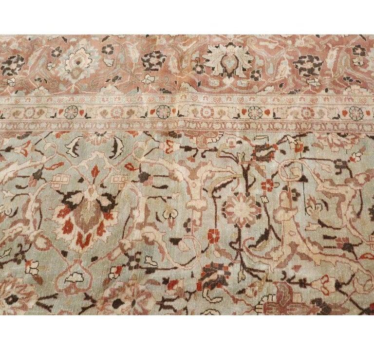Mid-20th Century Handmade Persian Mashad Room Size Carpet, circa 1930 For Sale 2