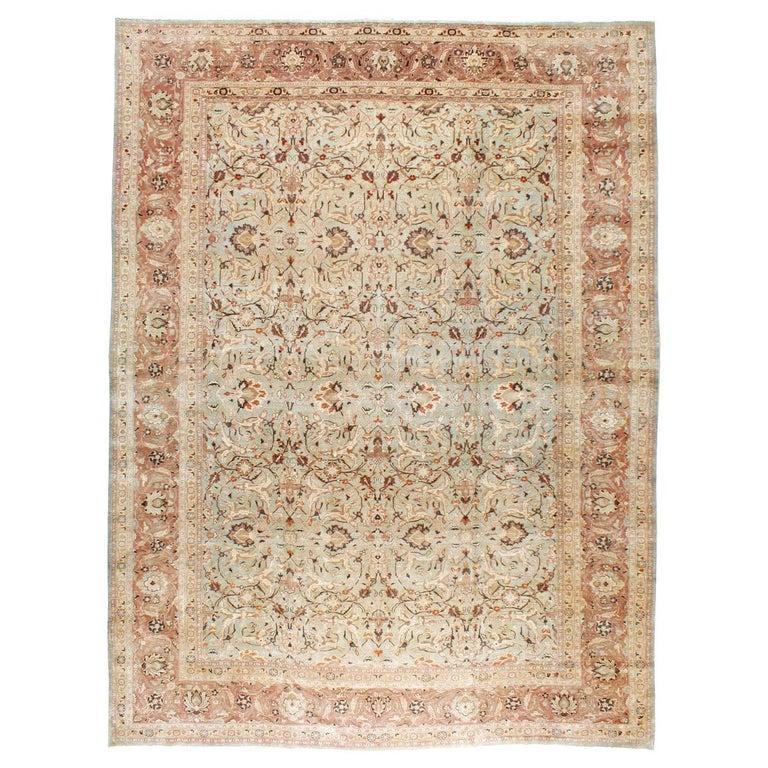 Mid-20th Century Handmade Persian Mashad Room Size Carpet, circa 1930 For Sale
