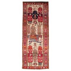 Mid-20th Century Handmade Persian Pictorial Bakhtiari Tribal Gallery Rug