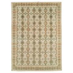 Mid-20th Century Handmade Persian Quom Room Size Carpet