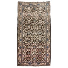 Mid-20th Century Handmade Persian Tabriz Floral Gallery Accent Rug