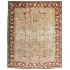 Mid-20th Century Handmade Persian Tabriz Large Room Size Carpet