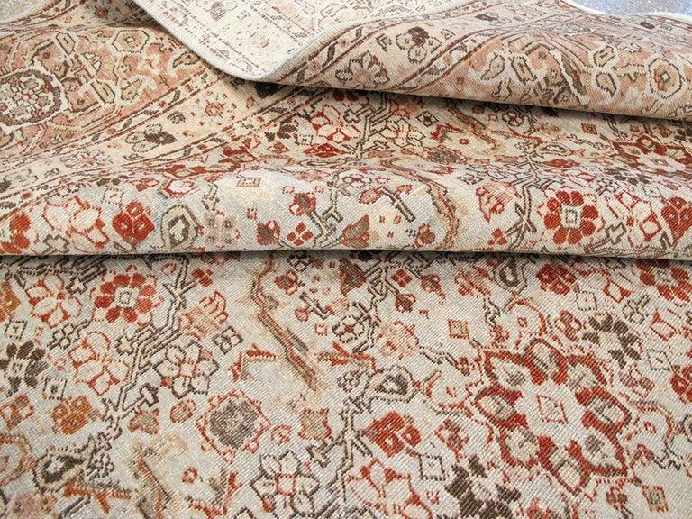 Mid-20th Century Handmade Persian Tabriz Room Size Carpet For Sale 4