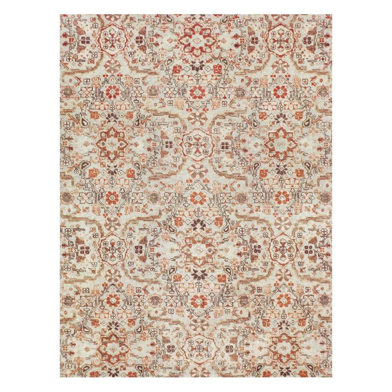 A vintage Persian Tabriz room size rug handmade during the mid-20th century.  Measures: 9' 10