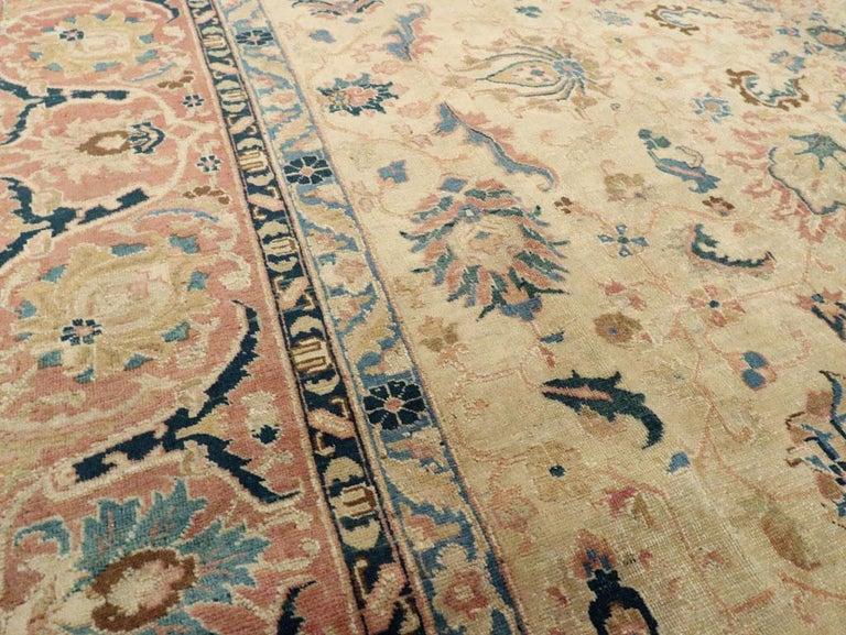 Wool Mid-20th Century Handmade Persian Tabriz Room Size Carpet