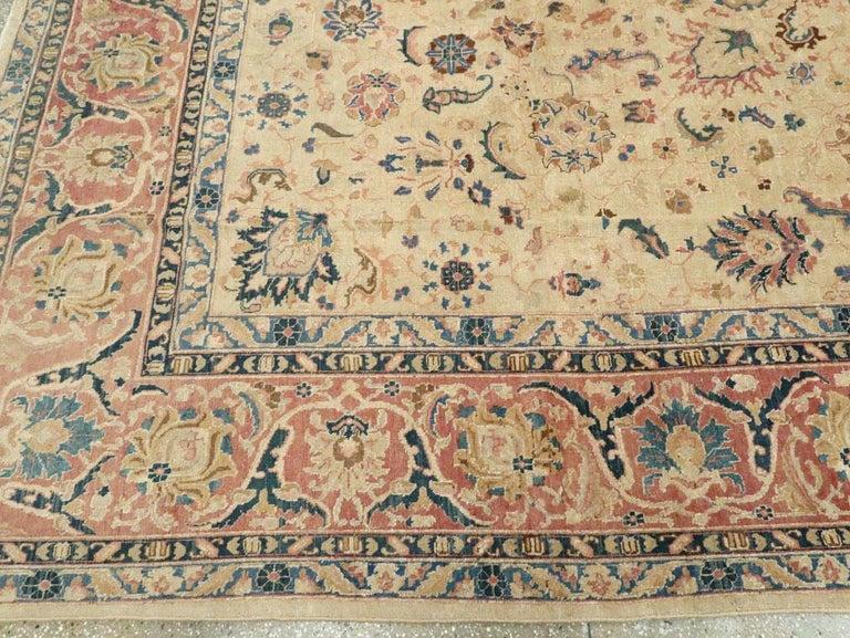 Mid-20th Century Handmade Persian Tabriz Room Size Carpet 2