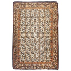Mid-20th Century Handmade Russian Flatweave Bessarabian Room Size Accent Rug