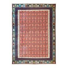 Mid-20th Century Handmade Turkish Large Oversize Sarkoy Flat-Weave Kilim