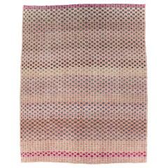 Mid-20th Century Handmade Turkish Anatolian Checkered Room Size Carpet