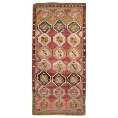 Mid-20th Century Handmade Turkish Anatolian Room Size Gallery Carpet