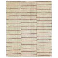 Mid-20th Century Handmade Turkish Flat-Weave Kilim Accent Rug