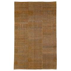 Mid-20th Century Handmade Turkish Flat-Weave Kilim Accent Rug