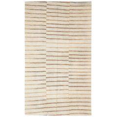 Mid-20th Century Handmade Turkish Flat-Weave Kilim Modern Farmhouse Accent Rug