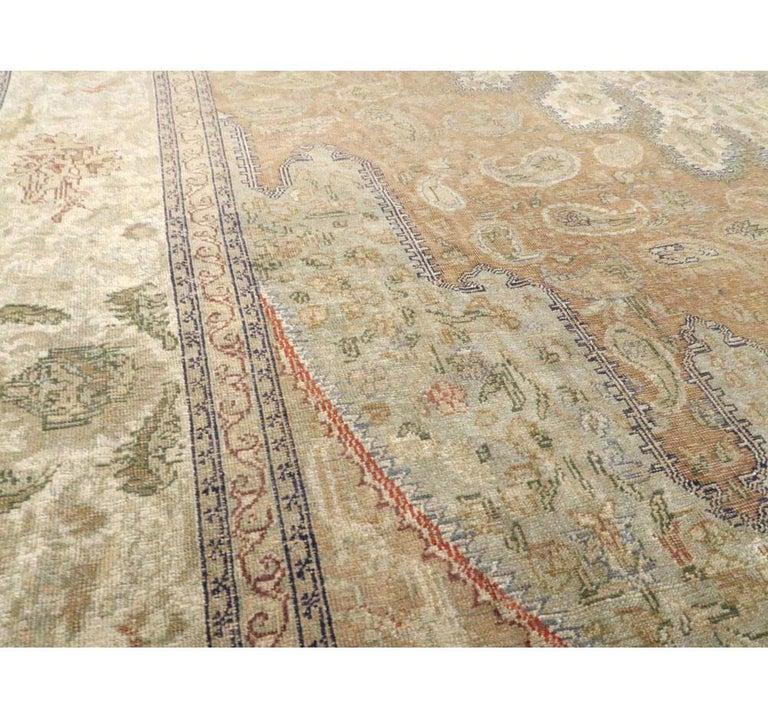 Wool Mid-20th Century Handmade Turkish Sivas Accent Rug For Sale