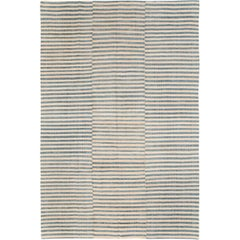 Mid-20th Century Handmade Turkish Striped Flatweave Kilim Accent Rug