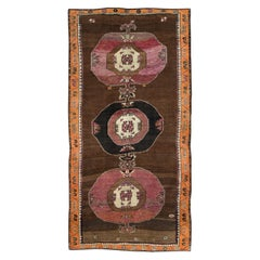 Mid-20th Century Handmade Turkish Tribal Gallery Accent Rug