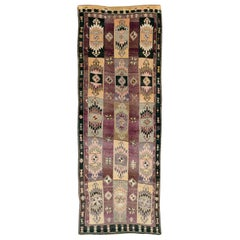 Mid-20th Century Handmade Turkish Tribal Long and Narrow Gallery Carpet