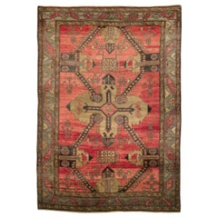 Mid-20th Century Handmade Turkish Tribal Room Size Accent Rug