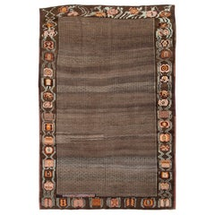 Mid-20th Century Handmade Turkish Tribal Room Size Carpet