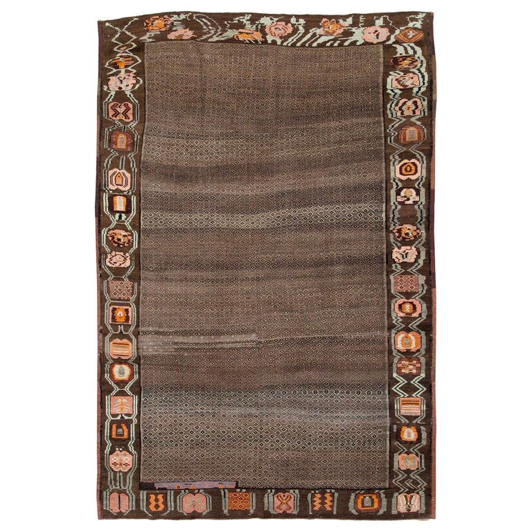 Mid-20th Century Handmade Turkish Tribal Room Size Carpet For Sale