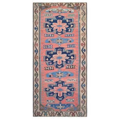 Mid-20th Century Handwoven, Wool, Beautiful Caucasian Asian Kilim