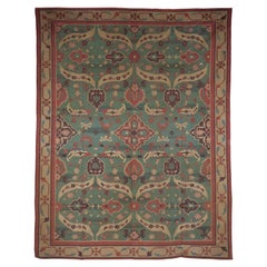Mid-20th Century Indian Dhurrie Colorful Flat-Weave Cotton Rug