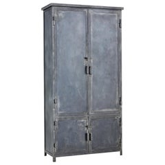Mid-20th Century Industrial Steel Cabinet