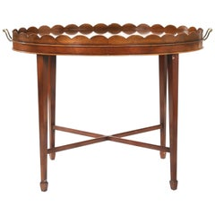 Mid-20th Century Inlaid Mahogany Tray Table