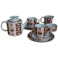 Mid-20th Century Irish Arklow Pottery Tea Set for Two with Teapot