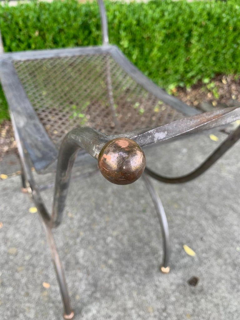 Mid-20th Century Iron Window Bench For Sale 9