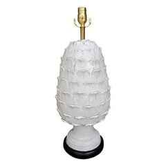 Mid-20th Century Italian Ceramic Artichoke Lamp
