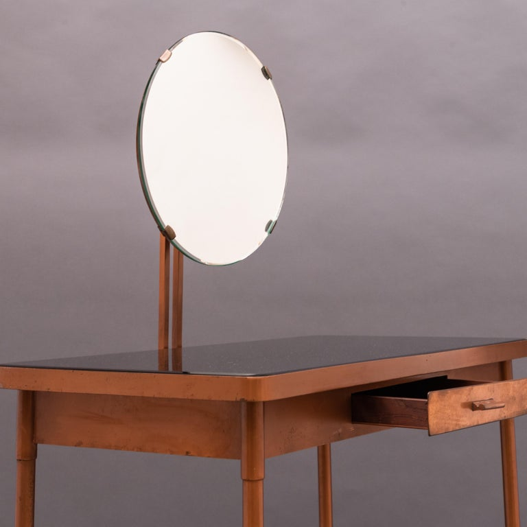 Mid-20th Century Italian Copper Vanity Table In Good Condition For Sale In Paris, FR