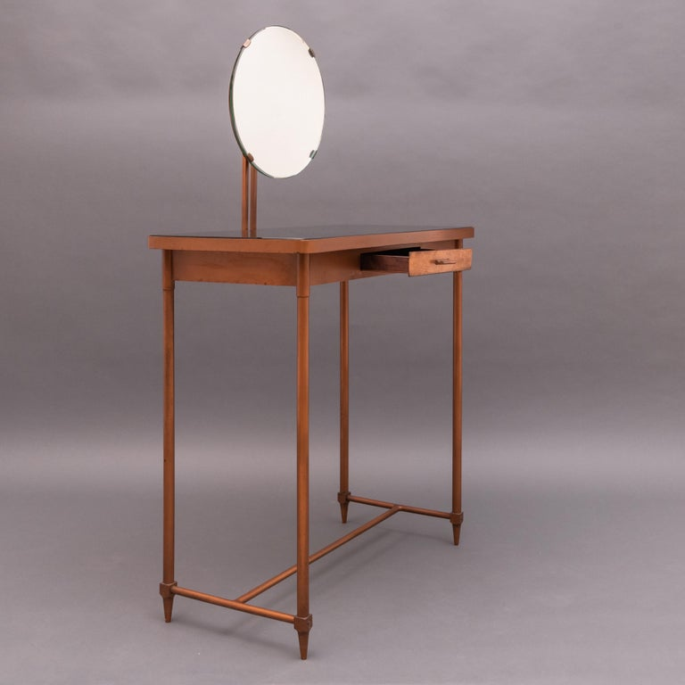 Mid-20th Century Italian Copper Vanity Table For Sale 2