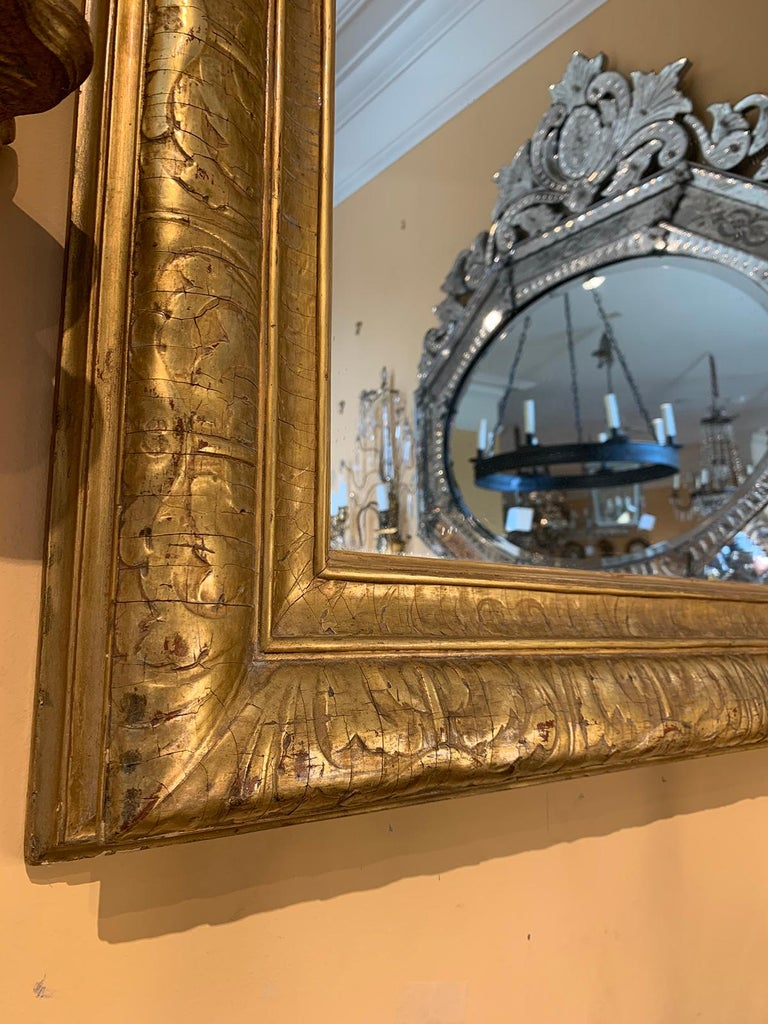Mid-20th Century Italian Giltwood Mirror For Sale 1