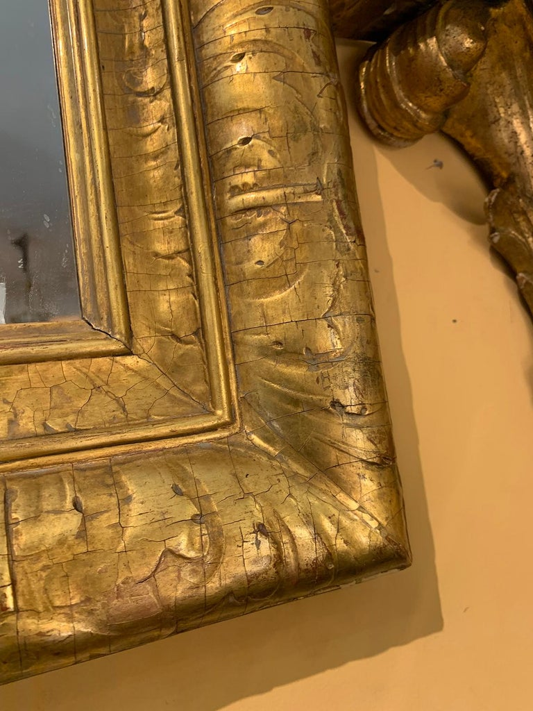Mid-20th Century Italian Giltwood Mirror For Sale 2