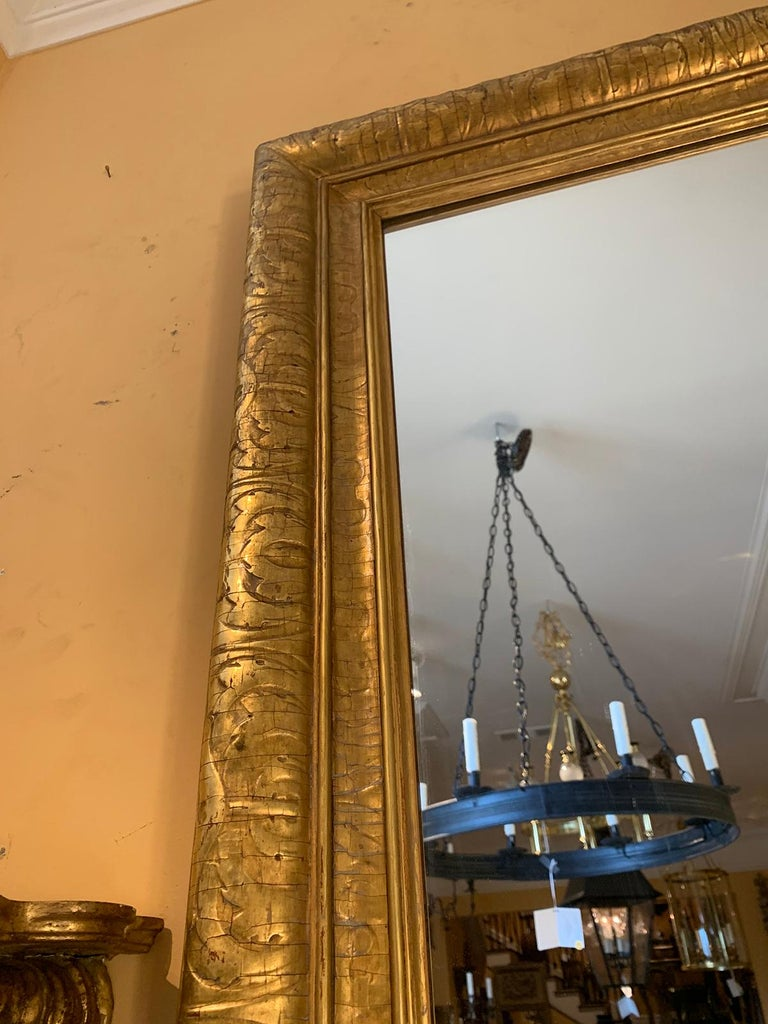 Mid-20th Century Italian Giltwood Mirror For Sale 3