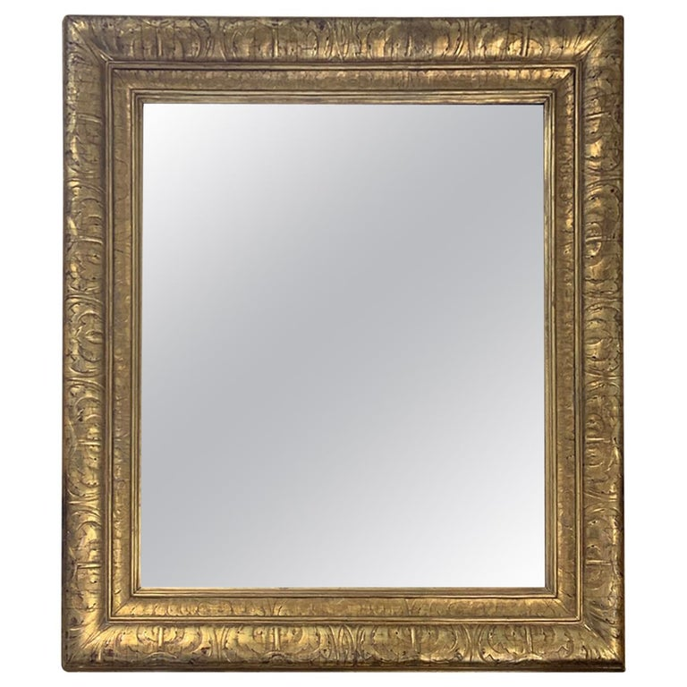 Mid-20th Century Italian Giltwood Mirror For Sale