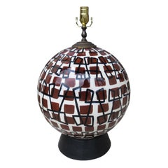 Mid-20th Century Italian Glazed Ceramic Lamp
