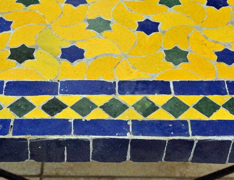 Mid-20th Century Italian Pompeian Style Iron Table with Ceramic Mosaic Top 1