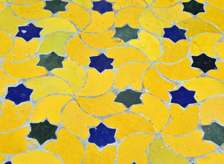 Mid-20th Century Italian Pompeian Style Iron Table with Ceramic Mosaic Top 3