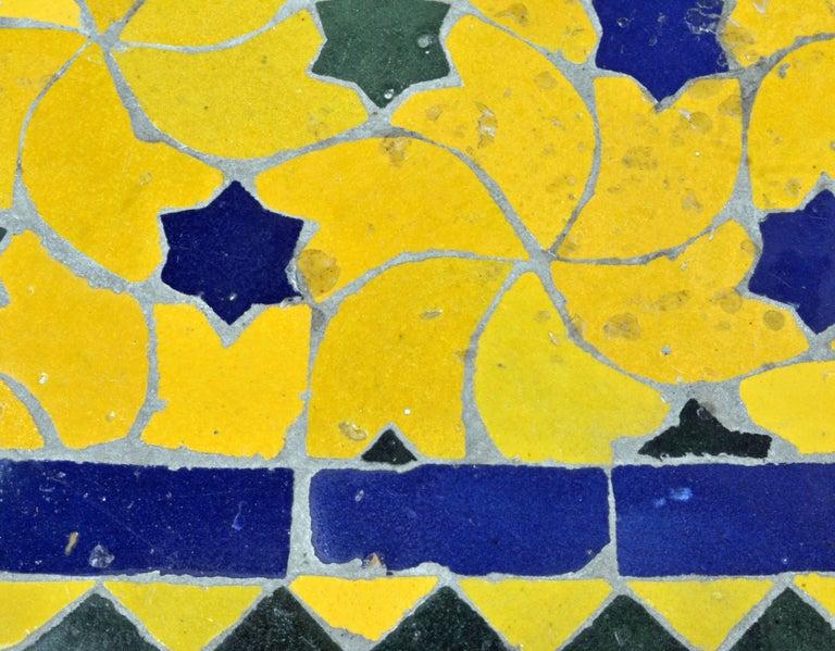 Mid-20th Century Italian Pompeian Style Iron Table with Ceramic Mosaic Top 4