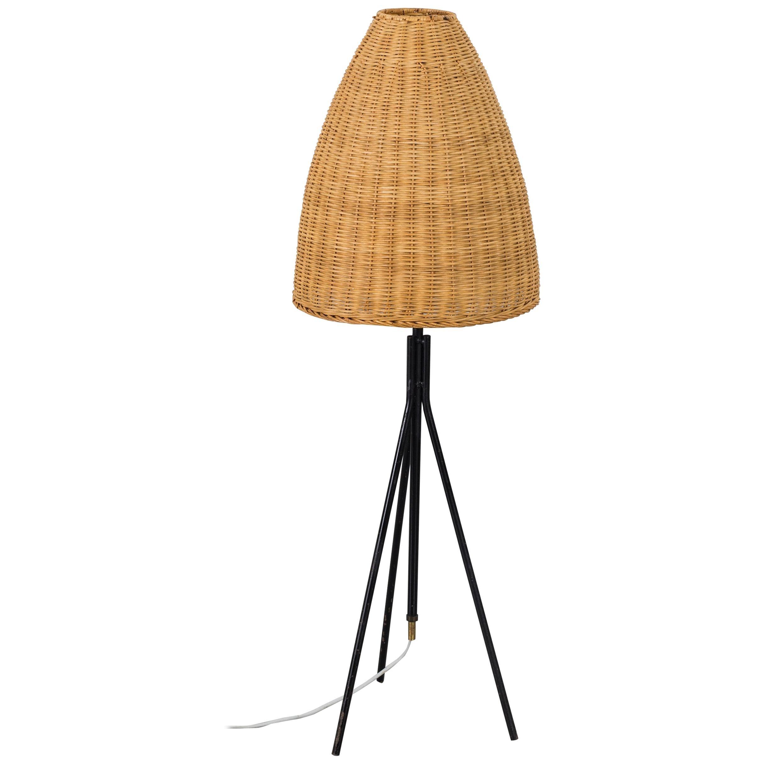 Mid-20th Century Italian Wicker Light