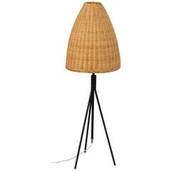 Mid-20th Century Italian Wicker Light