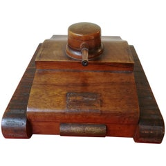 Mid-20th Century Italian Wood Box in a Shape of a Military Tank, 1940
