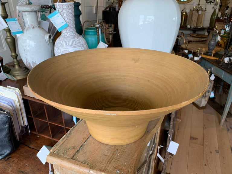 Wood Mid-20th Century Japanese Bowl, Labeled