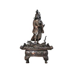 Mid-20th Century Japanese Bronze Representation of Zhong Kui 'Demon Hunter'