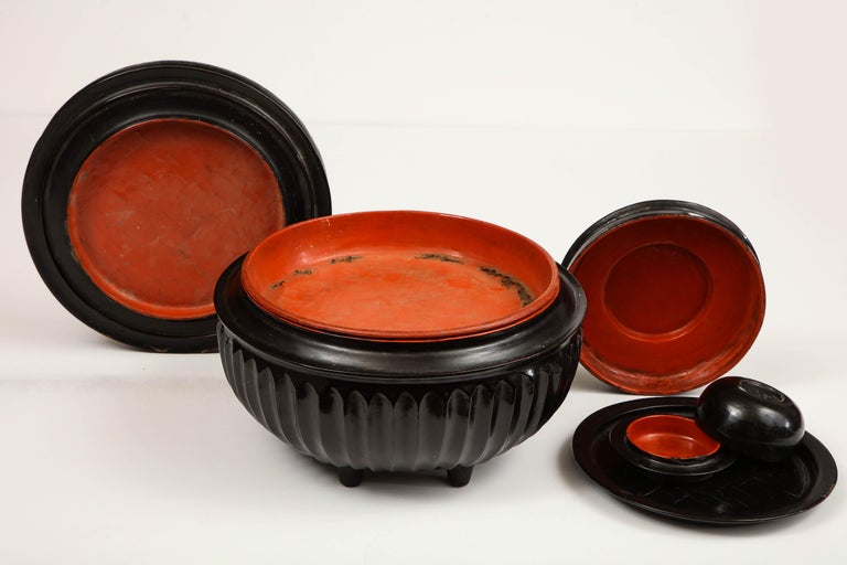 Mid-20th Century Japanese, Lacquer on Cane, Food Box 8