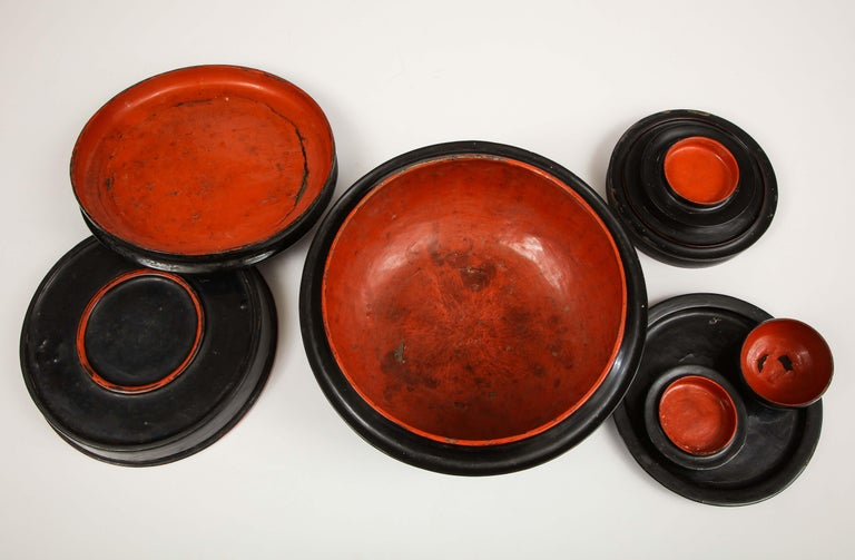 Mid-20th Century Japanese, Lacquer on Cane, Food Box 9