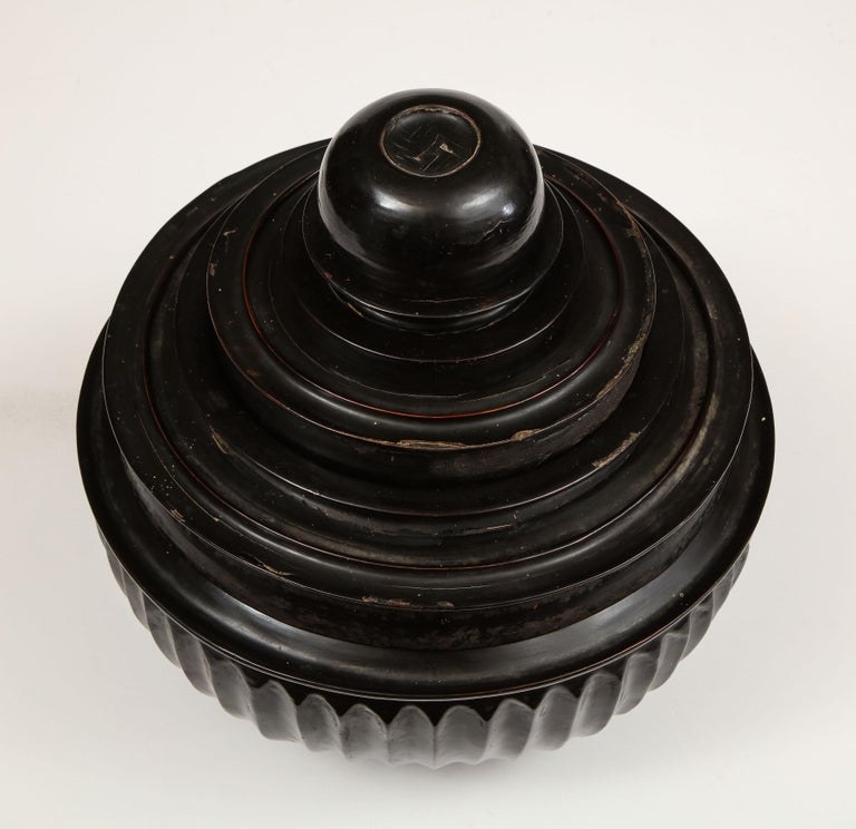 Mid-20th Century Japanese, Lacquer on Cane, Food Box 3