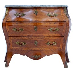 Mid-20th Century Kingwood and Mahogany Bombe Commode Chest of Drawers
